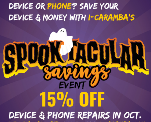 October Spooktacular Savings Event at i-Caramba