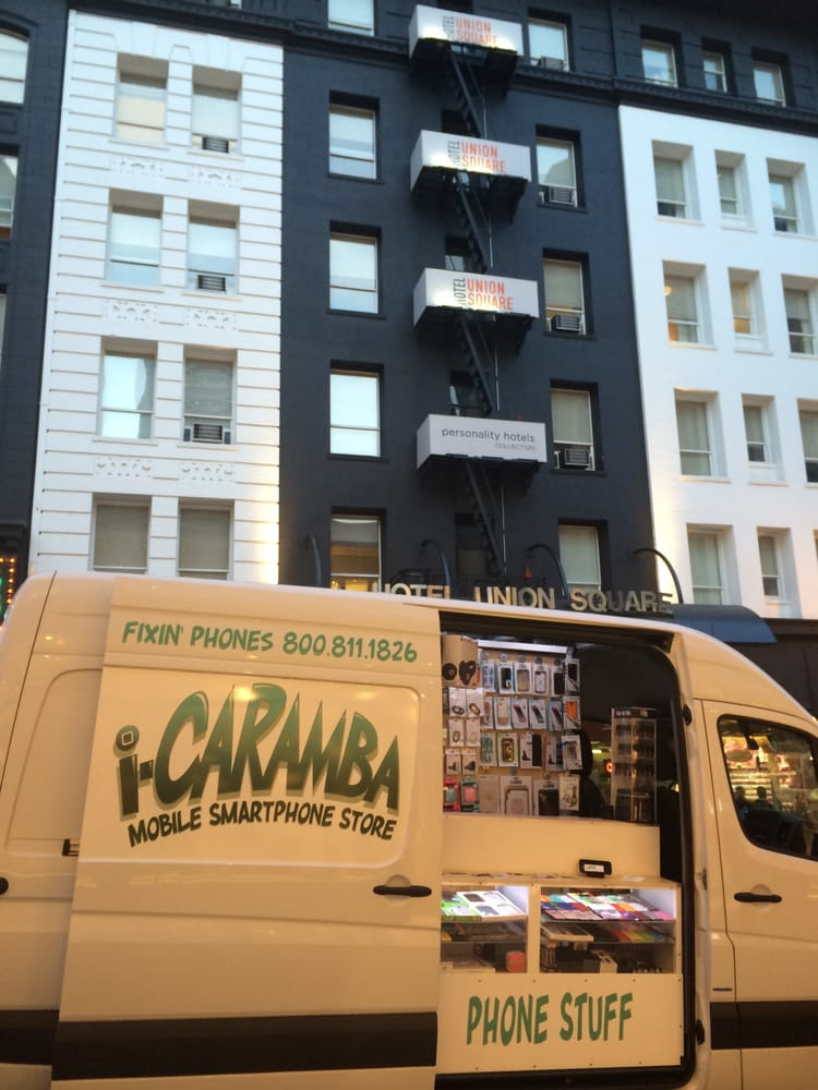 i-Caramba mobile smartphone repair van in San Francisco