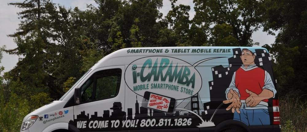 i-Caramba Mobile Repair Van Fleet Ready to Serve You